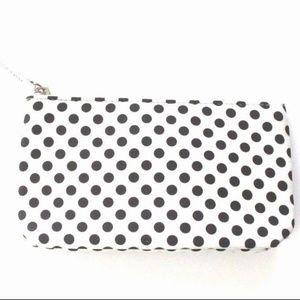 Lancome Paris Small White with polka dots bag